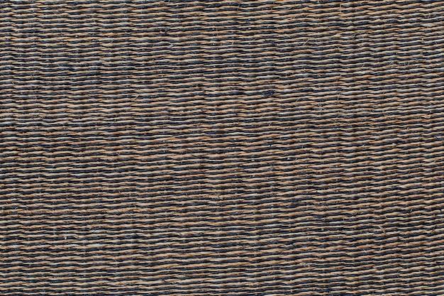 Fundo e textura de vime da cesta close-up