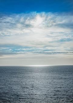 Fundo e textura do fundo do céu e do oceano