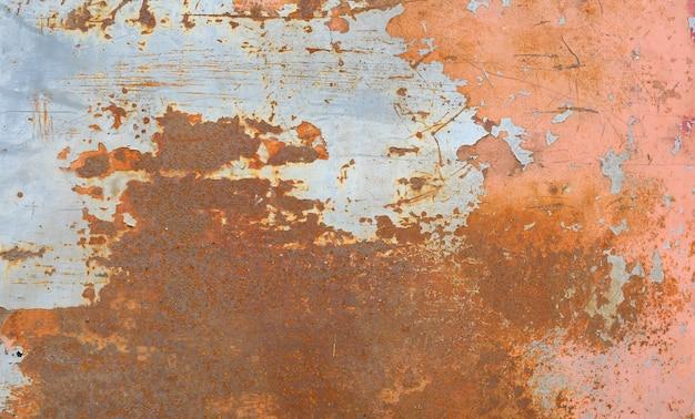 Fundo e textura velhos da oxidação do ferro do metal