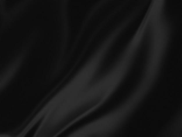 Fundo elegante de seda preta para seus projetos