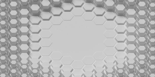 Fundo em camadas de formas de favo de mel