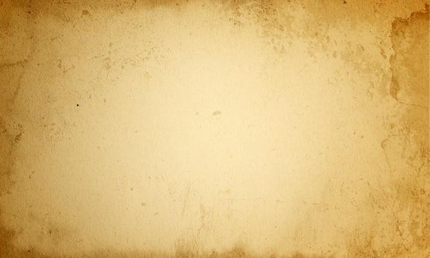 Fundo envelhecido abstrato, manuscrito grunge marrom em branco, textura antiga de papel velho áspero