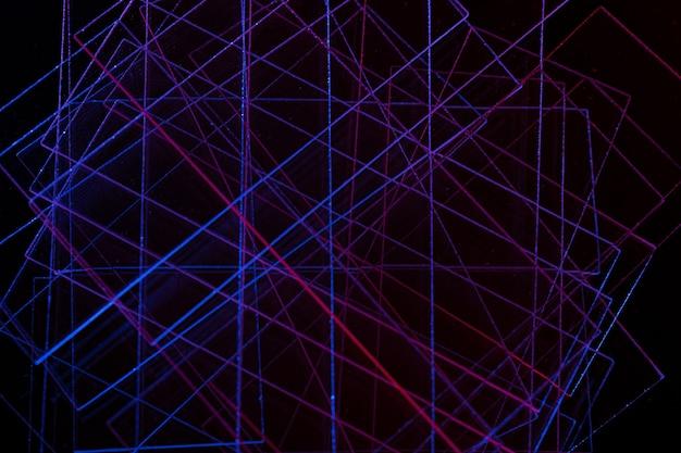 Fundo escuro abstrato com linhas azuis e vermelhas fundo abstrato das linhas azuis e vermelhas