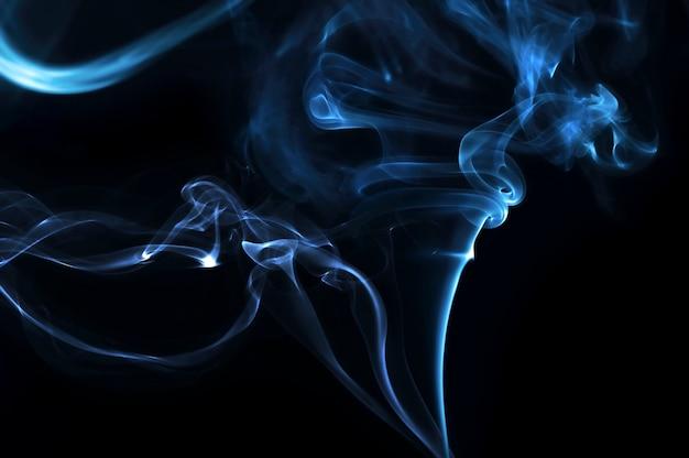 Fundo escuro abstrato de fumaça