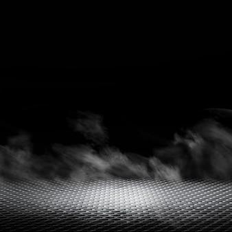 Fundo escuro com conceito de névoa