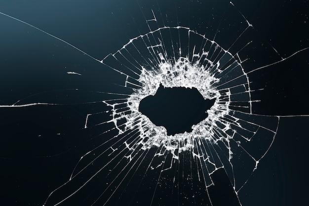 Fundo escuro de vidro quebrado com espaço de design