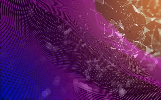 Fundo escuro poligonal abstrato baixo poli de espaço, renderização em 3d