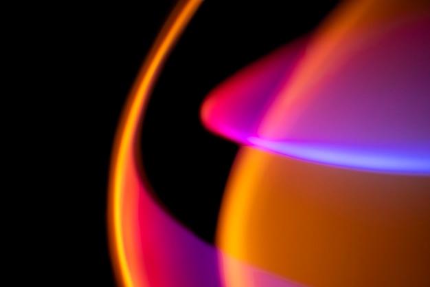 Fundo estético com efeito gradiente de luz led neon