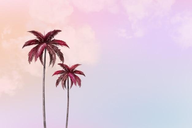 Fundo estético com palmeira
