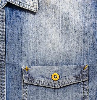 Fundo fechar-se bolso frente camisa jean