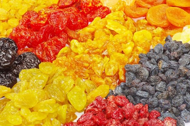 Fundo feito de frutas secas variadas