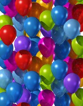 Fundo feito de muitos balões de ar coloridos
