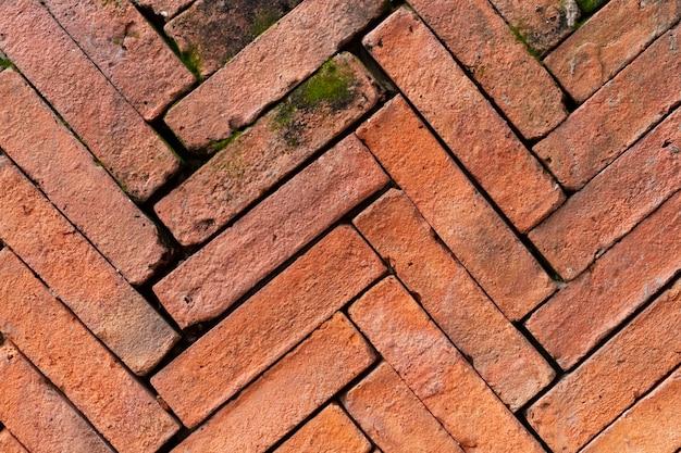 Fundo feito de tijolos