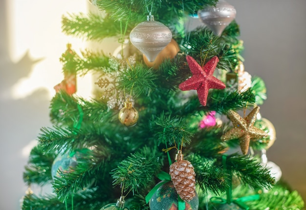 Fundo festivo de árvore de natal