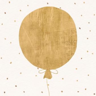 Fundo festivo de balão dourado para postagem em mídia social