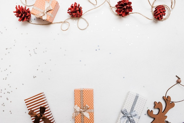 Fundo festivo do feriado de natal.