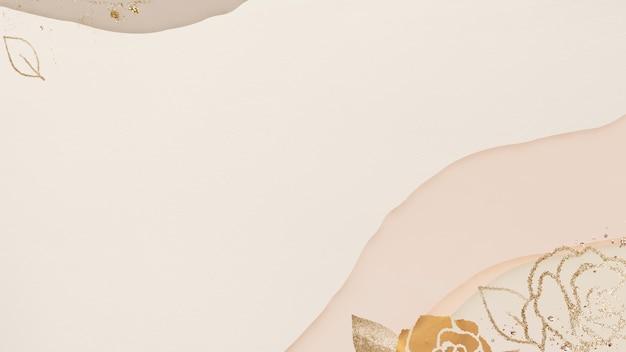 Fundo floral abstrato com textura dourada