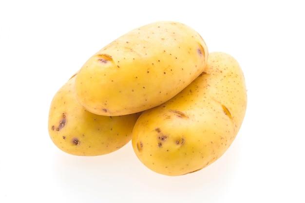 Fundo frescos batatas perto nutrição