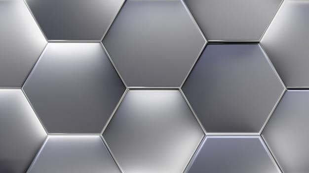 Fundo futurista abstrato. células brilhantes