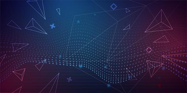 Fundo futurista abstrato com design 3d