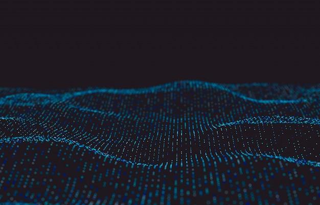 Fundo futurista abstrato da tecnologia digital. estrutura de conexão de rede.
