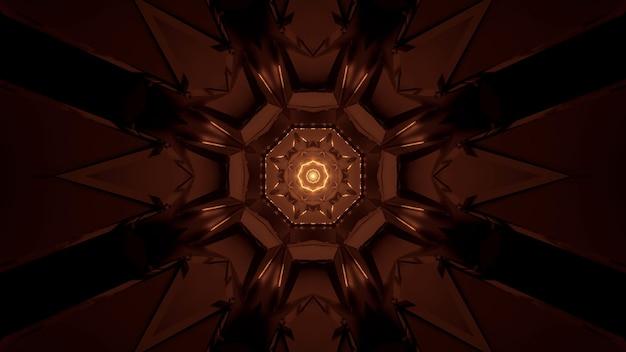 Fundo futurista com padrões de luz de néon abstratos brilhantes - ótimo para um fundo cósmico