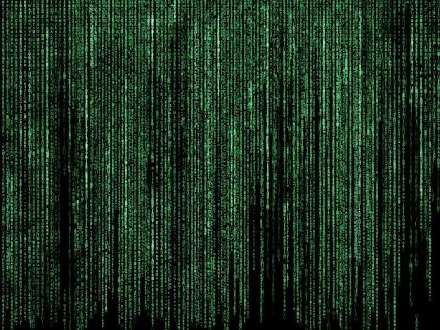 Fundo futurista com projeto do código de estilo da matriz
