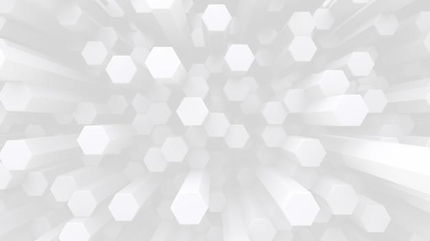 Fundo futurista de baixo contraste. muitas hastes de cristal hexagonal