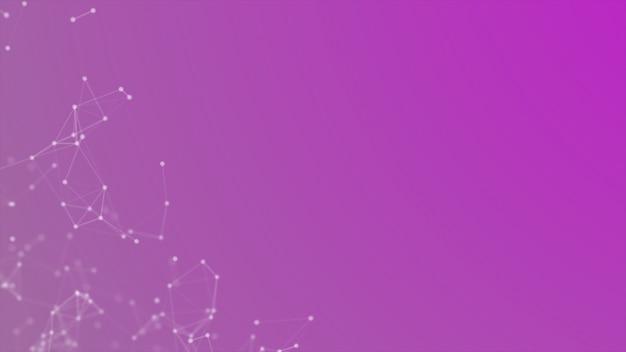 Fundo futurista de tecnologia de linhas e pontos
