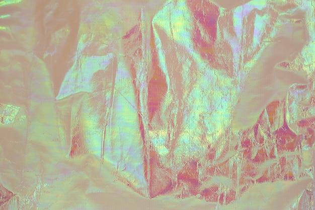 Fundo futurista holográfico colorido material brilhante