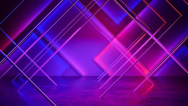 Fundo futurista moderno da luz de néon