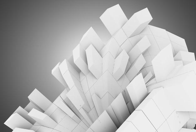 Fundo geométrico abstrato 3d com cubos. ilustração 3d