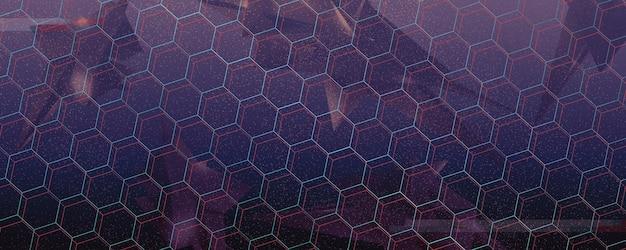 Fundo geométrico abstrato conceito de prisma digital de cristal de diamante