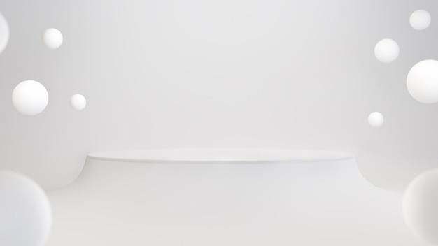 Fundo geométrico branco abstrato para apresentação de estande de exposição de produtos