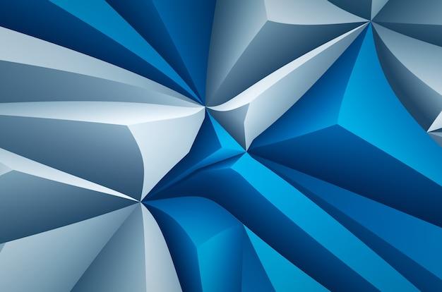 Fundo geométrico branco azul. elementos abstratos em relevo, design moderno
