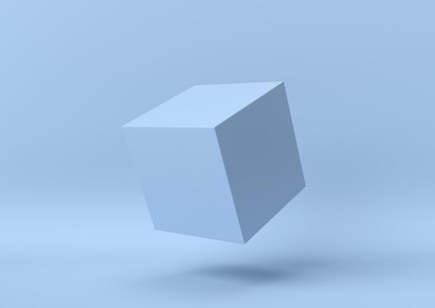 Fundo geométrico da forma da cor azul abstrata, minimalista moderno, rendição 3d
