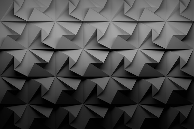Fundo geométrico de baixo poli preto de carbono