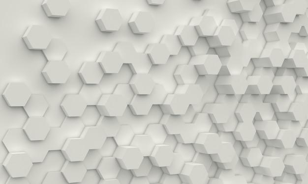 Fundo geométrico de hexágono