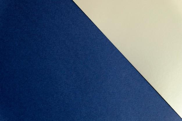 Fundo geométrico de papel azul marinho e prateado