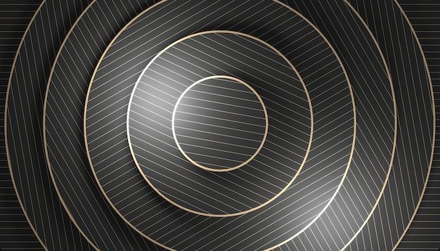 Fundo geométrico minimalista com formas concêntricas