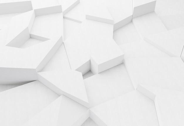 Fundo geométrico moderno branco