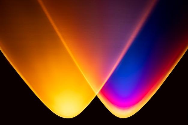 Fundo gradiente colorido com luz neon led