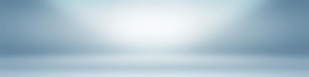Fundo gradiente de luxo abstrato azul escuro liso com banner de estúdio vinheta preta