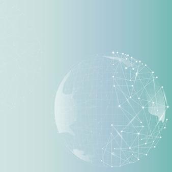 Fundo gradiente de negócios de tecnologia globo