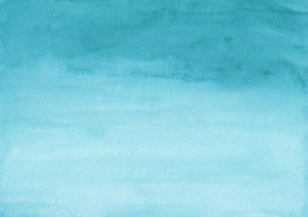 Fundo gradiente turquesa em aquarela. pano de fundo azul calmo. textura de pintados à mão.