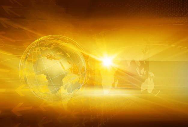 Fundo gráfico com o globo da terra