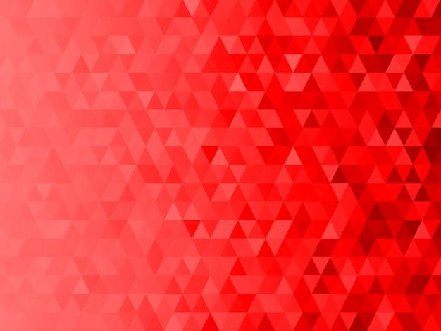 Fundo gráfico de mosaico de baixo polígono com tema de natal vermelho