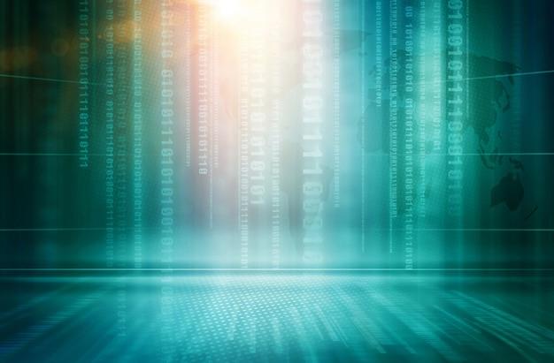 Fundo gráfico de tecnologia de informática abstrata
