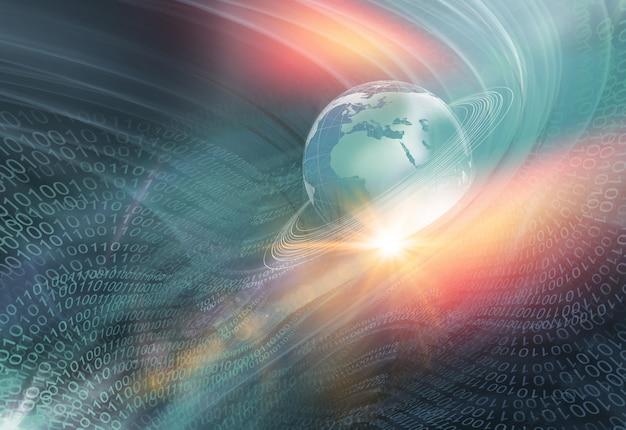 Fundo gráfico digital do mundo