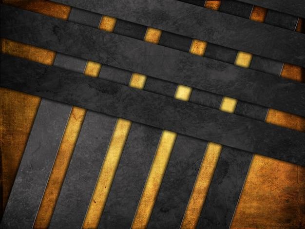 Fundo grunge com papel e texturas metálicas